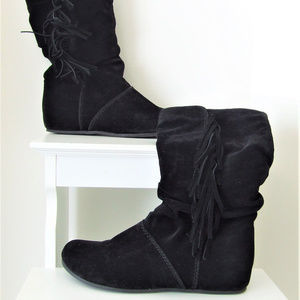Mia Taboo Slouch Boot with Fringe 7.5M